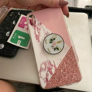 Pink Glitter Marble iPhone XS Max case ONLY